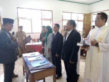 Pertama Kali Pelantikan Kepala Sekolah Dilakukan di Wilayah Desa