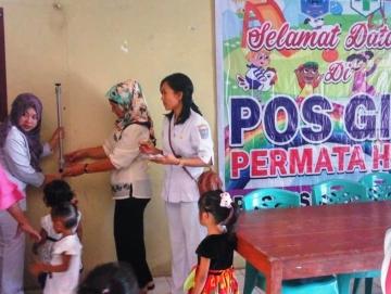 Puskesmas Sikakap Buka Pos Gizi di Kantor Desa