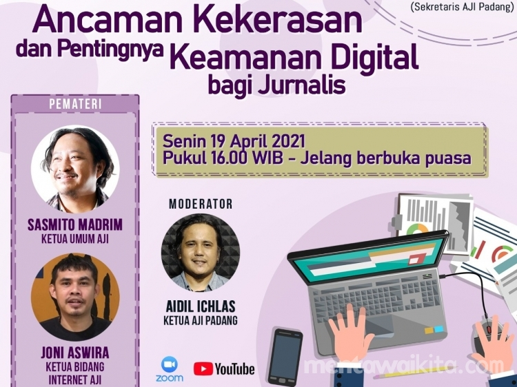 Gelar Ngabuburit Jurnalistik AJI Padang Ajak Perhatikan Keamanan Digital dan Ancaman Kekerasan Terhadap Jurnalis