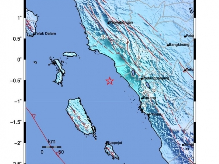 Gempa 52 di Agam Terasa Sampai di Siberut