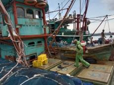 Dua Kapal Pukat Cincin Asal Sibolga di Semprot Cairan Disinfektan