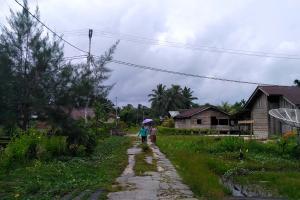 Pemukiman warga Peipei Siberut Barat Daya