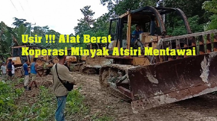 Warga Taikako Usir Alat Berat Koperasi Minyak Atsiri Mentawai